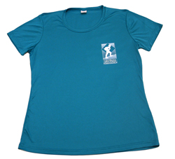 Tropic Blue Womens Moisturewicking T